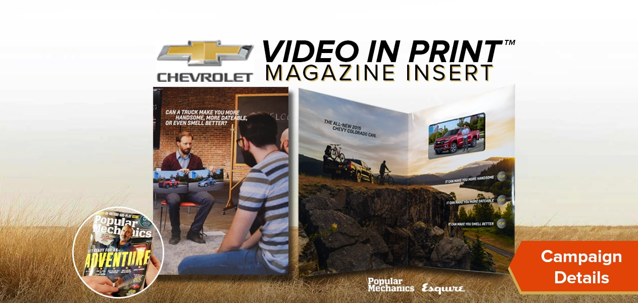 Chevy video in print